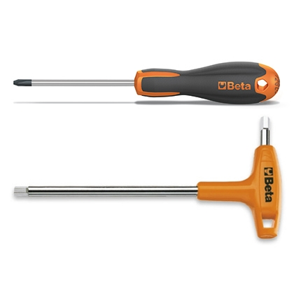 Screwdrivers, male-end wrenches and bits