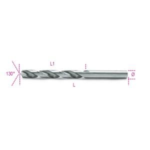 Punte elicoidali cilindriche serie corta  in acciaio HSS rettificate lucide
