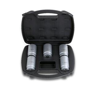 Serie di 5 chiavi a bussola per serraggio dado mozzo in valigetta di plastica