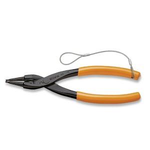 Pinze a becchi diritti  per anelli elastici di sicurezza, per fori manici ricoperti in PVC