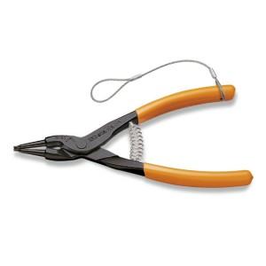 Pinze a becchi diritti  per anelli elastici di sicurezza per alberi manici ricoperti in PVC