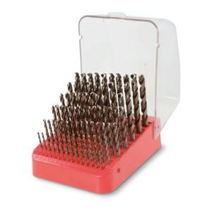 Serie di 91 punte  in cassetta di plastica