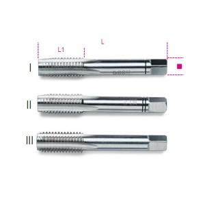 Serie di 3 maschi a mano sgrossatore, intermedio, finitore passo grosso  in acciaio HSS