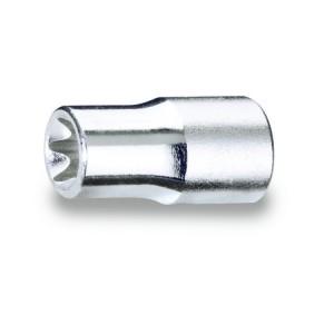 """Chiavi a bussola  con attacco quadro  femmina 1/4""""  per viti con profilo Torx®,  cromate"""