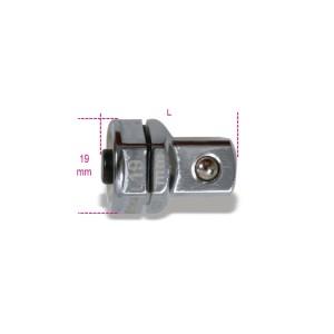 "Adaptador de desengate rápido, 1/2"", para chaves de roquete, 19mm"