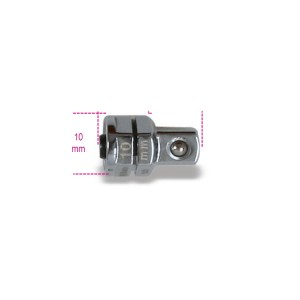 "Adaptador de desengate rápido, 1/4"", para chaves de roquete, 10mm"