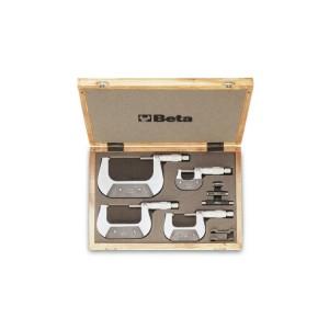 Jogo de 4 micrómetros modelo 1658