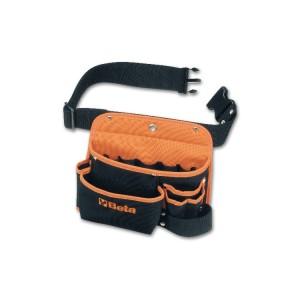 Bolsa para ferramentas, vazia, em nylon, com cinto