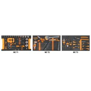 Jogo de 109 ferramentas para C14, em tabuleiros maleáveis