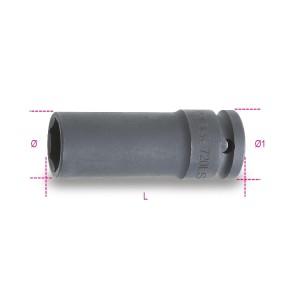"""Chaves de impacto,  encabadouro fêmea 1/2"""", série longa fosfatadas"""