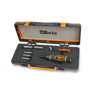 Chave de aperto para válvulas de pneus,  com acessórios e sistema de controlo de pressão  para um aperto controlado