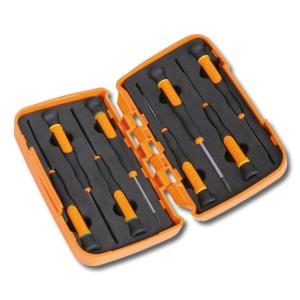 Jogo de 8 micro-chaves (refa. 1257LP, 1257PH) em caixa