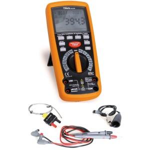 Multímetro/megómetro para teste de isolamento de alta tensão. Indicador TRUE RMS