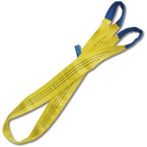 Estropos de elevação, amarelo, 3t tecido duplo com olhais reforçados, cinta em poliester de elevada resistência (PES)