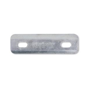 Placas para colares quadrados em U zincados