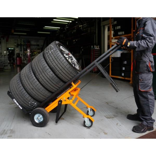 Carro para movimentação de pneus