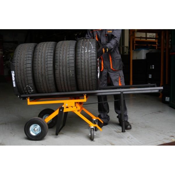 Para transporte fácil de pneus até 980 mm de diâmetro - carro