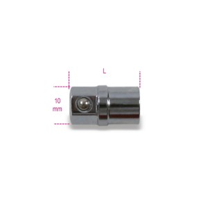 "Bit holder adaptor, 1/4"", for 10 mm ratcheting wrenches"