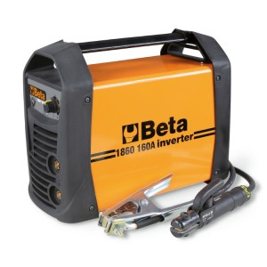 DC inverter welding machine for MMA and TIG electrode steel welding. Compact and easy to carry  Arc force, hotstart, anti-sticking and thermostatic protection features