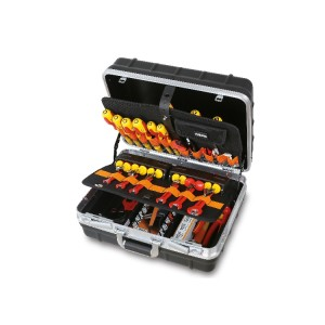 Trolley with assortments of tools for electronic and electrotechnical maintenance