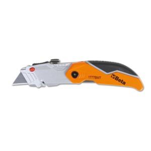 Foldaway knife with trapezoidal blade