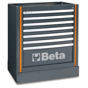 Fixed module with seven drawers, for workshop equipment combination