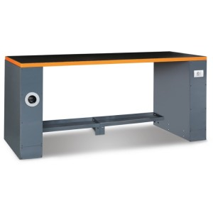 2-m-long workbench, for workshop equipment combination