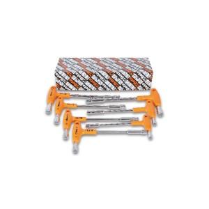 T dopsleutels met zes en twaalfkant aansluiting, met krachthandgreep