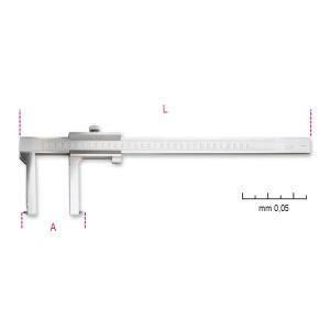 Schuifmaat voor remtrommels  uitlezing tot 0.05 mm