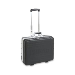 Verrijdbare gereedschapskoffer,  vervaardigd uit dik polypropyleen,  aluminium frame, leeg