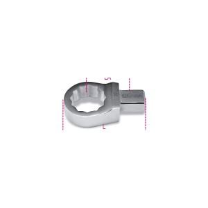 Insteek ringsleutels voor momentsleutels,  rechthoekige aansluiting
