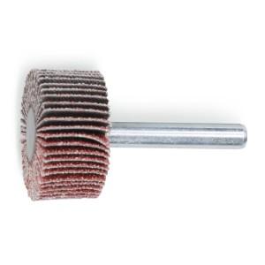 Ruote a lamelle con gambo Lamelle in tela abrasiva al corindone