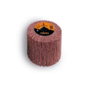 Ruote miste lamelle/tessuto non tessuto per satinatrici In tela abrasiva alternata a fibre sintetiche al corindone