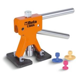 Attrezzo levabolli con kit di 19 funghetti di plastica Da utilizzare con colla a caldo per superfici verniciate 1851VK-12V