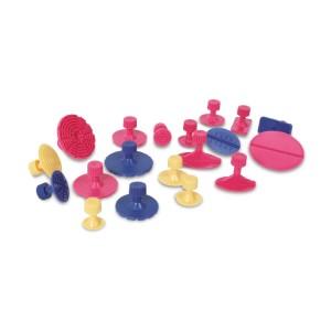 Kit di 19 funghetti di plastica per articolo 1366A