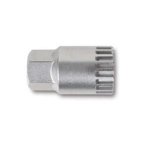 Chiave a bussola estrattore per movimento centrale a 20 tacche con perno centrale  nichelata