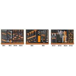 Assortimento di 91 utensili in vassoio morbido in EVA
