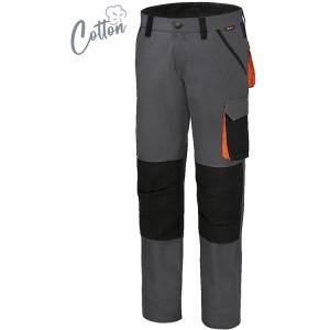 Pantaloni da lavoro in 100% cotone elasticizzato, 220 g Slim Fit