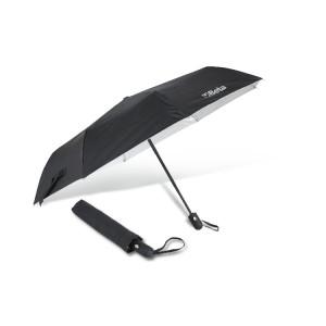 Ombrello in nylon T210 con fusto in alluminio, nero, 3 sezioni, automatico
