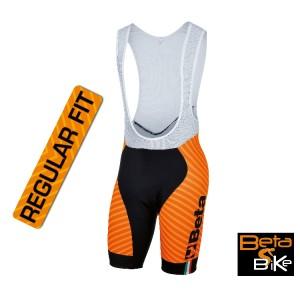 Salopette in lycra, elastico siliconato fondo gamba, fondello antibatterico ad alta traspirabilità