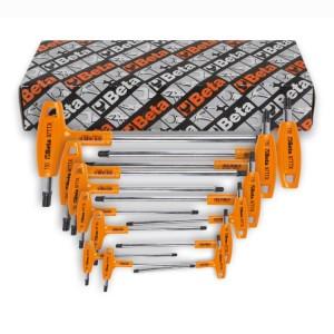 Serie di chiavi maschio piegate  con impugnatura per viti con impronta Torx® cromate