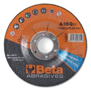 Dischi abrasivi da taglio per acciaio e inox Esecuzione a centro depresso  Dischi da utilizzare con smerigliatrici portatili angolari