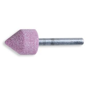 Mole abrasive con gambo Granuli abrasivi di corindone rosa con legante ceramico Forma cilindro piramidale