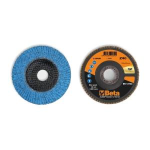 Dischi lamellari con tela abrasiva allo zirconio ceramicato Supporto in fibra di vetro e lamella singola