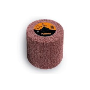 Ruote in tessuto non tessuto in fibre sintetiche al corindone per satinatrici