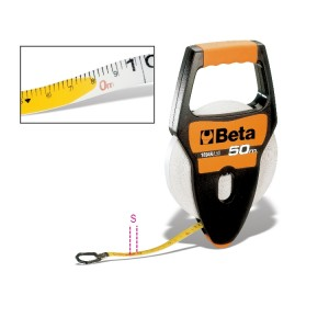 Rotelle metriche  con impugnatura cassa in ABS antiurto  nastro in fibra di vetro ricoperto in PVC