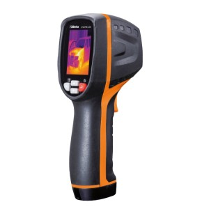 Termocamera a infrarossi  Termocamera compatta per la misurazione della temperatura senza contatto, adatta per applicazioni nei settori edile, meccanica ed impianti elettrici e di riscaldamento