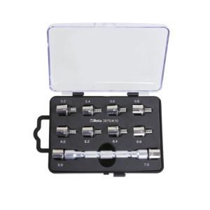 Set chiave universale a testina intercambiabile e 10 inserti, per serraggio raggi ruote