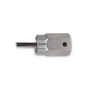Chiave estrattore per ruote libere Shimano® a cassetta con perno di guidanichelata
