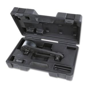 Moltiplicatore di coppia destrorso/sinistrorso in valigetta di materiale plastico rapporto 3,8:1 con dispositivo antiritorno